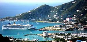 Ship in Road Harbor, Tortola