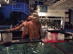 Topless bartender